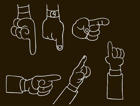 Pointing Hands 版權商用圖片