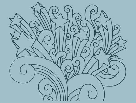 Star Swirl Background