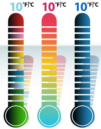 Thermometerset Standard-Bild - 7267111