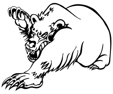 clawing: Angry Bear Stock Photo