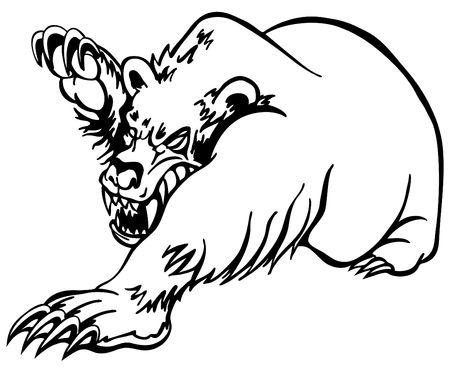 clawing: Bear arrabbiato Archivio Fotografico
