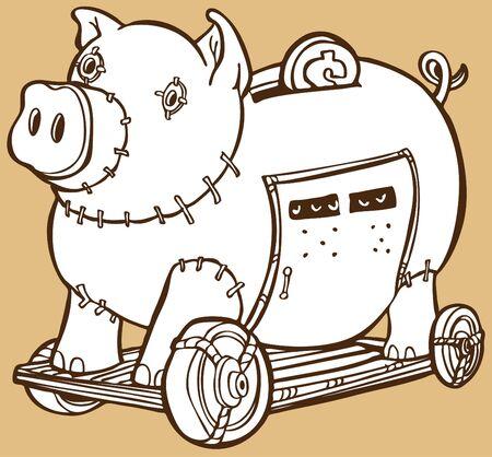トロイの木馬の貯金箱