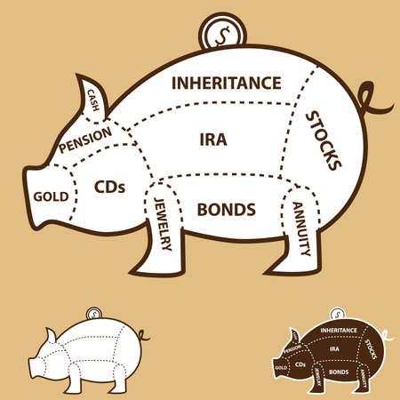 annuity: Piggy Bank Chart
