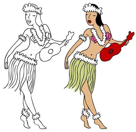 black woman: Hula Girl