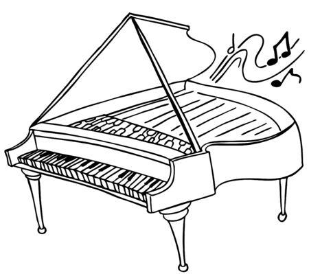 Piano Illustration