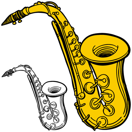 Saxophone Ilustracja