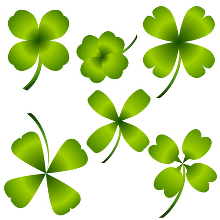 Four Leaf Clover Set Stock Vector - 7340487