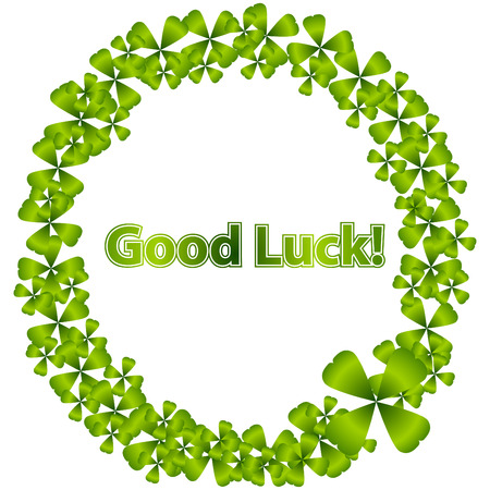 Good Luck Wreath Vector