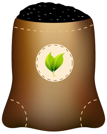 burlap bag: Fertilizer Bag Illustration