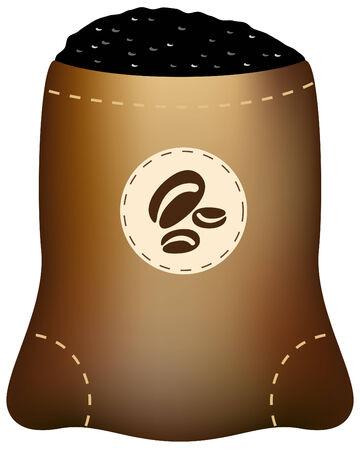 Coffee Bean Bag Illusztráció