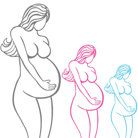 lines: Pregnant Woman