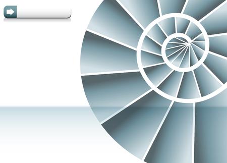 Spiral Staircase Chart Stock Illustratie