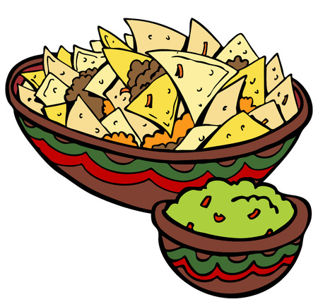 Nachos Tortilla Chips Illustration
