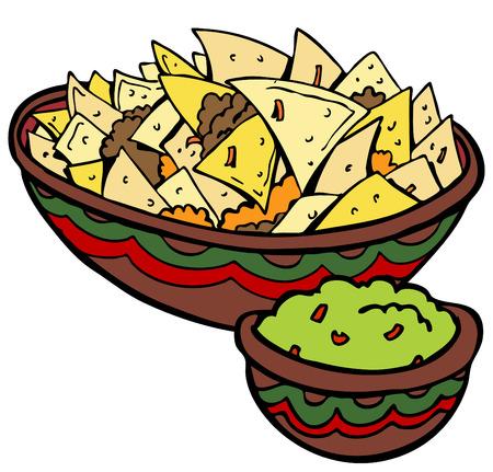 corn tortilla: Nachos Tortilla Chips Illustration