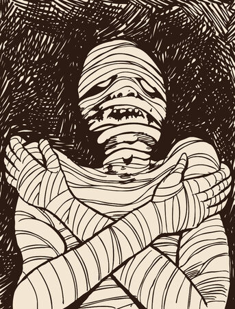 decaying: Creepy Mummy