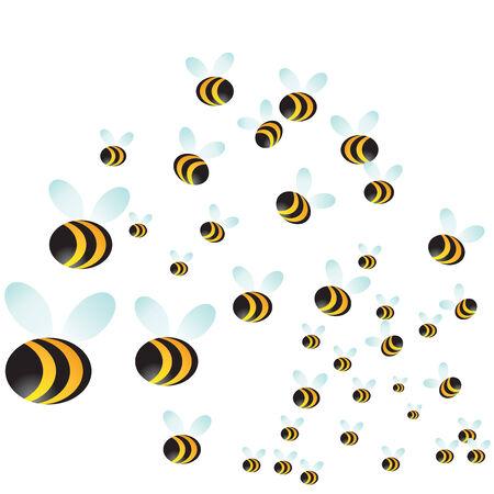 bee swarm: Bee Swarm Illustration