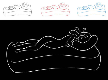 woman sleep: Mujer dormida