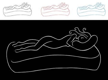 line drawings: Sleeping Woman