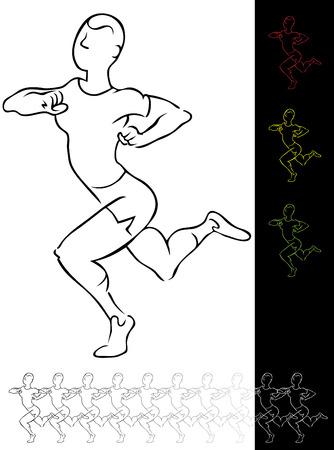 Running Man Stock Vector - 7395043