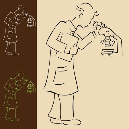 Laboratory Technician Vector