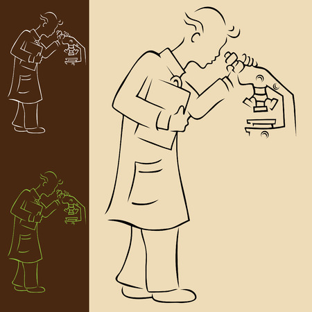 Laboratory Technician Ilustracja