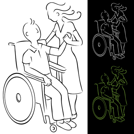 disabled person: Wheelchair Disabled Man