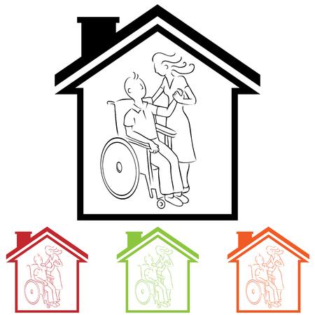 Home Caregiver  Stock Illustratie