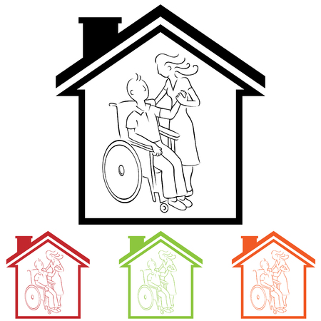 Home Caregiver Vector