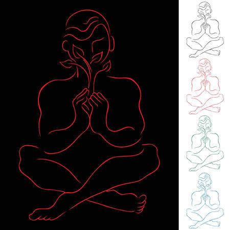 Healing Meditation Stock Vector - 7407648