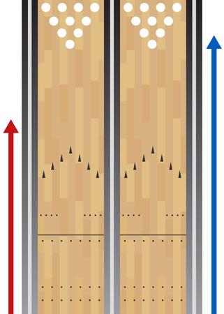 ボウリングのレーンのグラフ