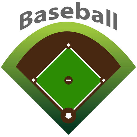 baseball field: Baseball Map Illustration