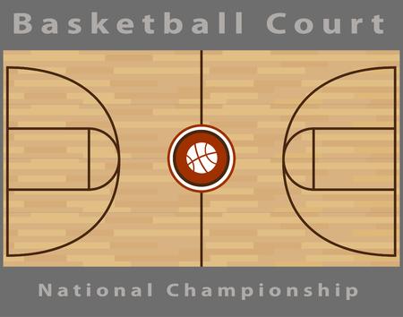 hardwood floor: Basketball Court