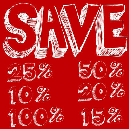 Discount Savings Text Stock Vector - 7452125