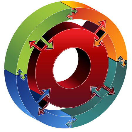 Process Chart Arrows Vector