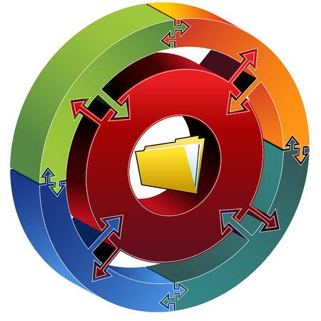 Process Chart Folder Vector