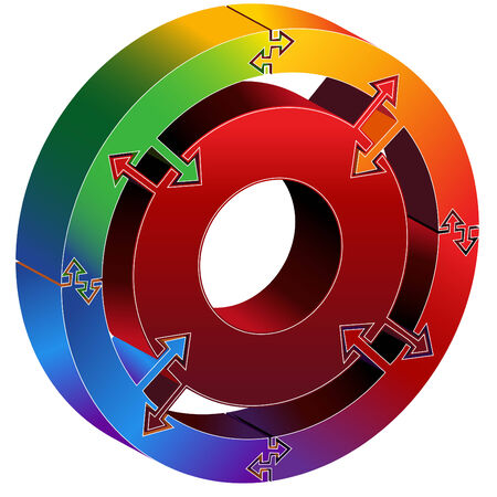 Prozess-Chart-Rainbow  Standard-Bild - 7468954