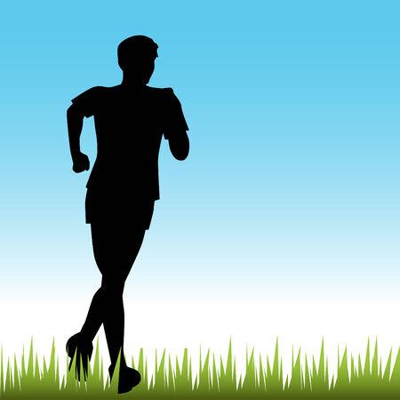 Teenage Runner Vector