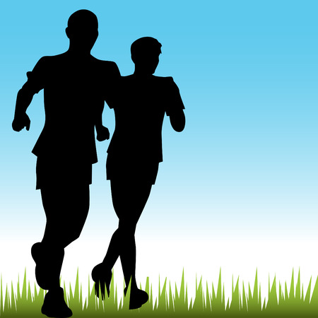 marathon runner: Father Son Runners