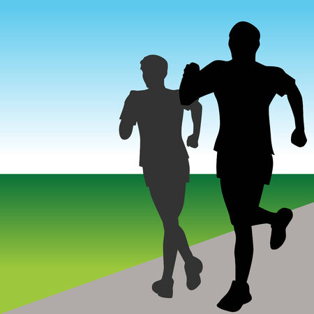 Fast Runners Vector