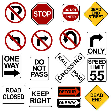 Road Sign Set Stock Vector - 7485556