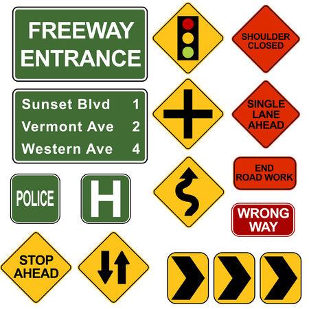 ave: Road Signposts Illustration