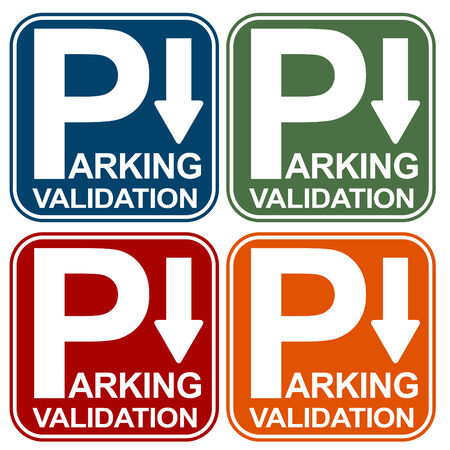 validation: Parking Validation Sign