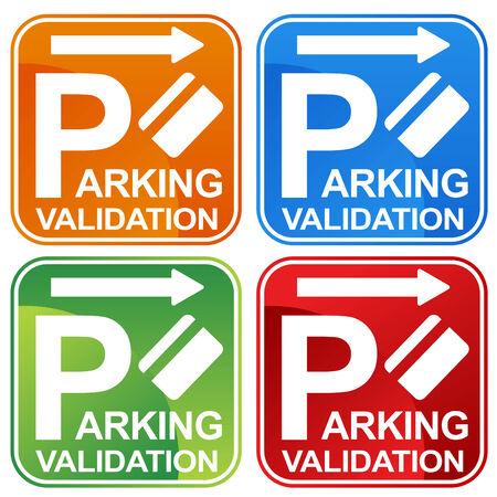 validation: Parking Validation Ticket Sign Illustration