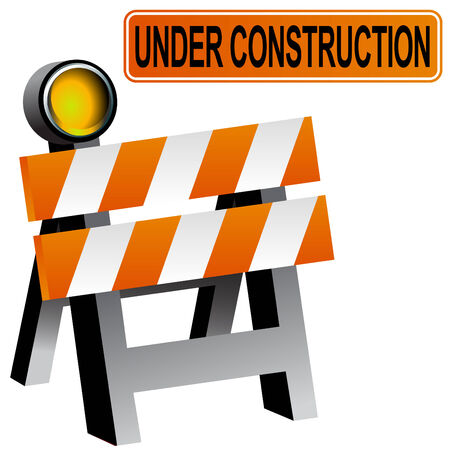 road block: Construction Barricade