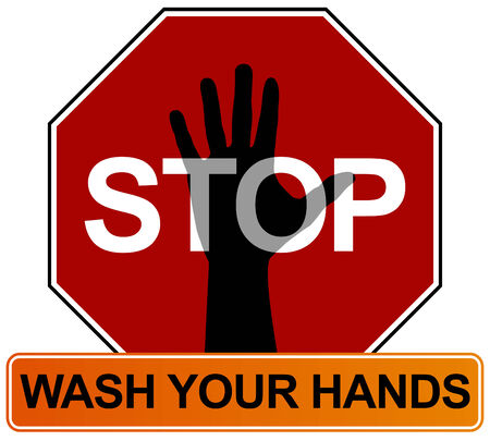 Hand Washing Sign Stock Vector - 7485563