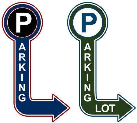 Parking structuur teken