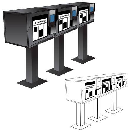 newspaper headline: Newspaper Stand Machine