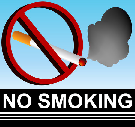 anti tobacco: No Smoking Sign Illustration