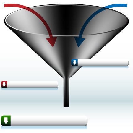 Funnel Diagram Vector