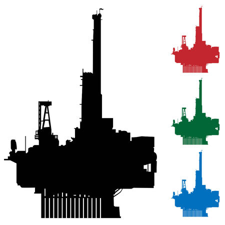 drilling machine: An image of an oil rig. Illustration